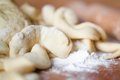 Cut dough Royalty Free Stock Photo