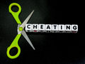 Cut down on cheating Royalty Free Stock Photo