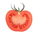 Cut half tomato. Royalty Free Stock Photo