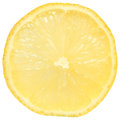 Cut lemon close up on white background Stock Photos