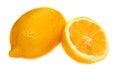 Cut lemon isolated large yellow Royalty Free Stock Images