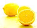 Cut lemon on white background 1 Royalty Free Stock Images
