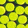 Cut lemons seamless pattern Royalty Free Stock Photo