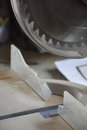 Cut off saw detail Royalty Free Stock Photo