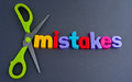 Cut out mistakes Royalty Free Stock Photo