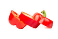 Cut red pepper Royalty Free Stock Photo