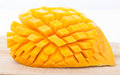 Cut ripe mango Royalty Free Stock Photo
