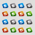 Cut Squares - File format icons Stock Image