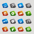 Cut Squares - Media Icons Stock Images