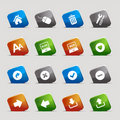 Cut Squares - Website and Internet Icons Royalty Free Stock Photo