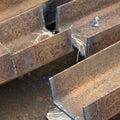 Cut steel beams