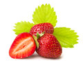 Cut strawberry Royalty Free Stock Image