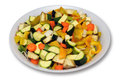 Cut vegetables Royalty Free Stock Images