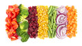 Cut vegetables Royalty Free Stock Photo