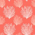 Cute abstract seamless background in Trendy Living Coral 2019 Colors