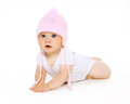 Cute adorable baby in hat Royalty Free Stock Photo