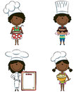 Cute African-American chef girls Royalty Free Stock Photography