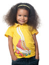 Cute african american small girl smiling Royalty Free Stock Photo
