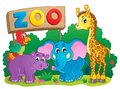 Cute African animals theme image 6 Royalty Free Stock Photo