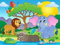 Cute African animals theme image 9 Royalty Free Stock Photo