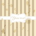 Cute aged retro vintage card invitation Royalty Free Stock Photos