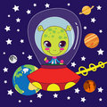Cute Alien Royalty Free Stock Images