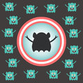 Cute alien invasion vector illustration Royalty Free Stock Photography