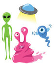Cute aliens Stock Images