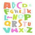 Cute alphabet vector set illustration colorful on white Royalty Free Stock Images