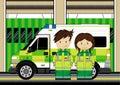 Roztomilý ambulancia muž