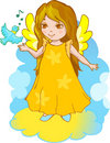 Cute Angel cartoon  Royalty Free Stock Photography
