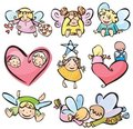 Cute angels for your design. Royalty Free Stock Image