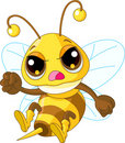Cute angry Bee Royalty Free Stock Photography