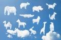 Roztomilý zvíře návrh malby vzor mraky tvar
