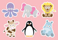 Cute Animal Collection Royalty Free Stock Photo