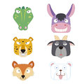 Cute animal head icon Royalty Free Stock Photography