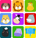 Cute animal icon Royalty Free Stock Photography