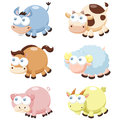 Cute animal set illustration of cartoon Stock Photos