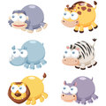 Cute animal set illustration of cartoon Stock Photography