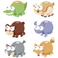 Cute animal set illustration of cartoon Stock Photo