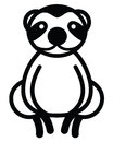 Cute animal sloth illustration simple black and white for logo Stock Images