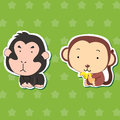 Cute animal stickers 02 Royalty Free Stock Images