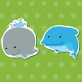 Cute animal stickers 03 Stock Photo