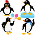 Cute Animal Vector Icons : Seabird - Penguin Royalty Free Stock Photo