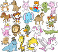 Cute Animal Vector Set Royalty Free Stock Photo