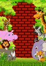 Cute animal wildlife cartoon illustration of Royalty Free Stock Images