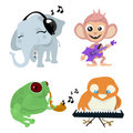 Cute animals band Stock Photo