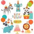 Cute animals birthday wishes