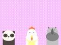 Cute animals family vector illustrator and computer design Stock Photo