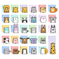 Cute Animals  Icon Set Royalty Free Stock Photo